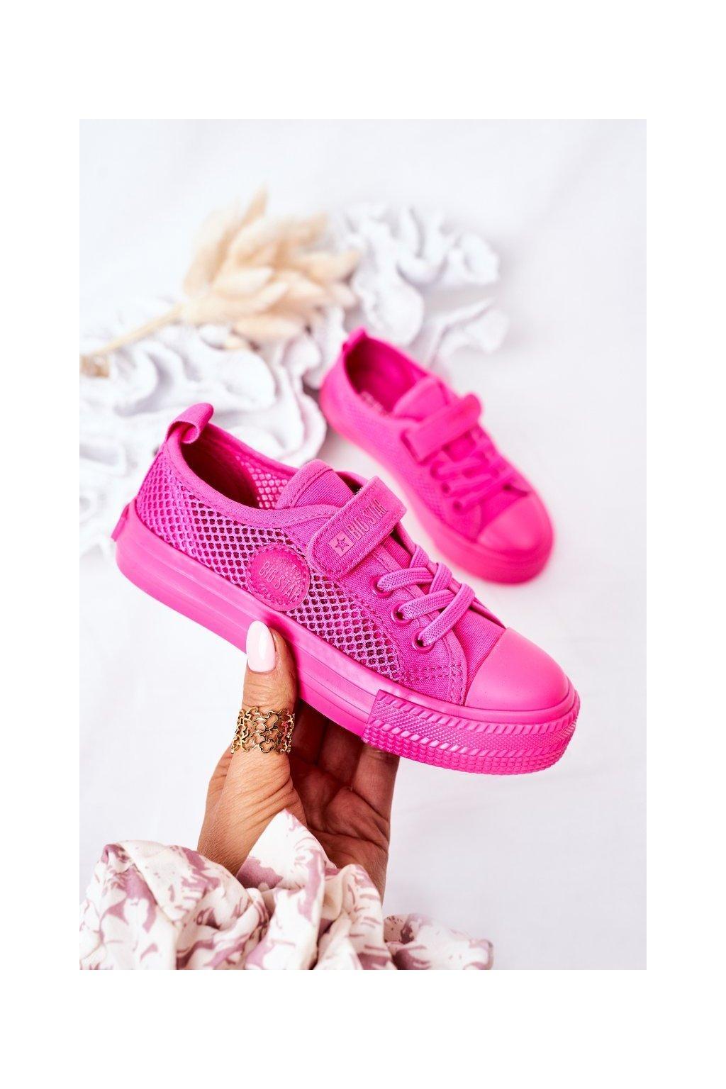 Detské tenisky farba ružová kód obuvi HH374019 FUCHSIA