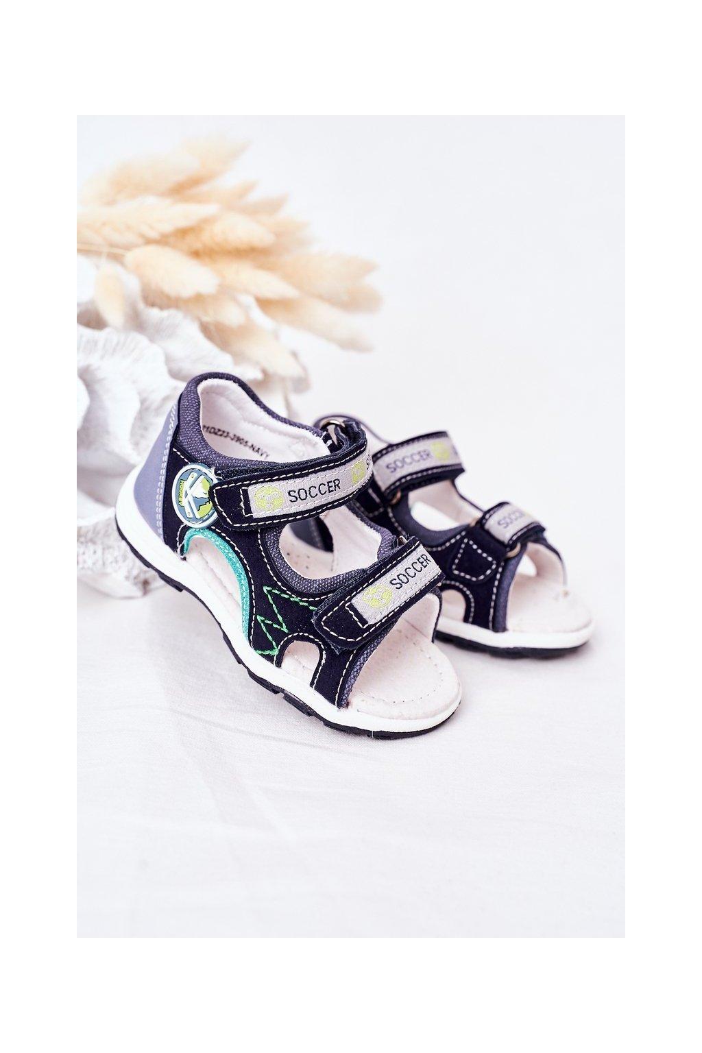 Detské sandále farba viacfarebná kód obuvi 21DZ23-3095 NAVY