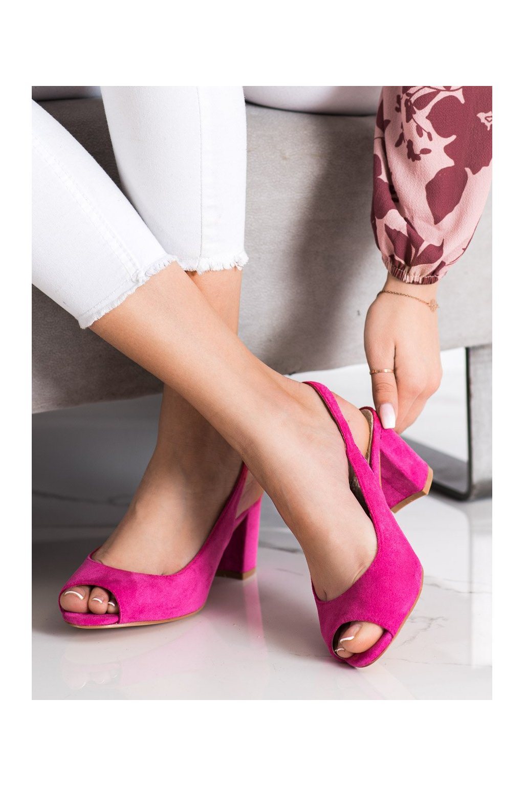 Ružové sandále na podpätku Goodin kod GD-XR-200FU