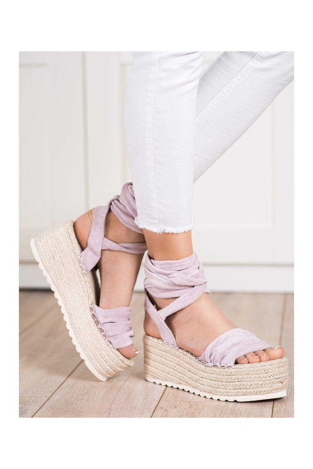 Fialové dámske sandále Shelovet kod BL262PU