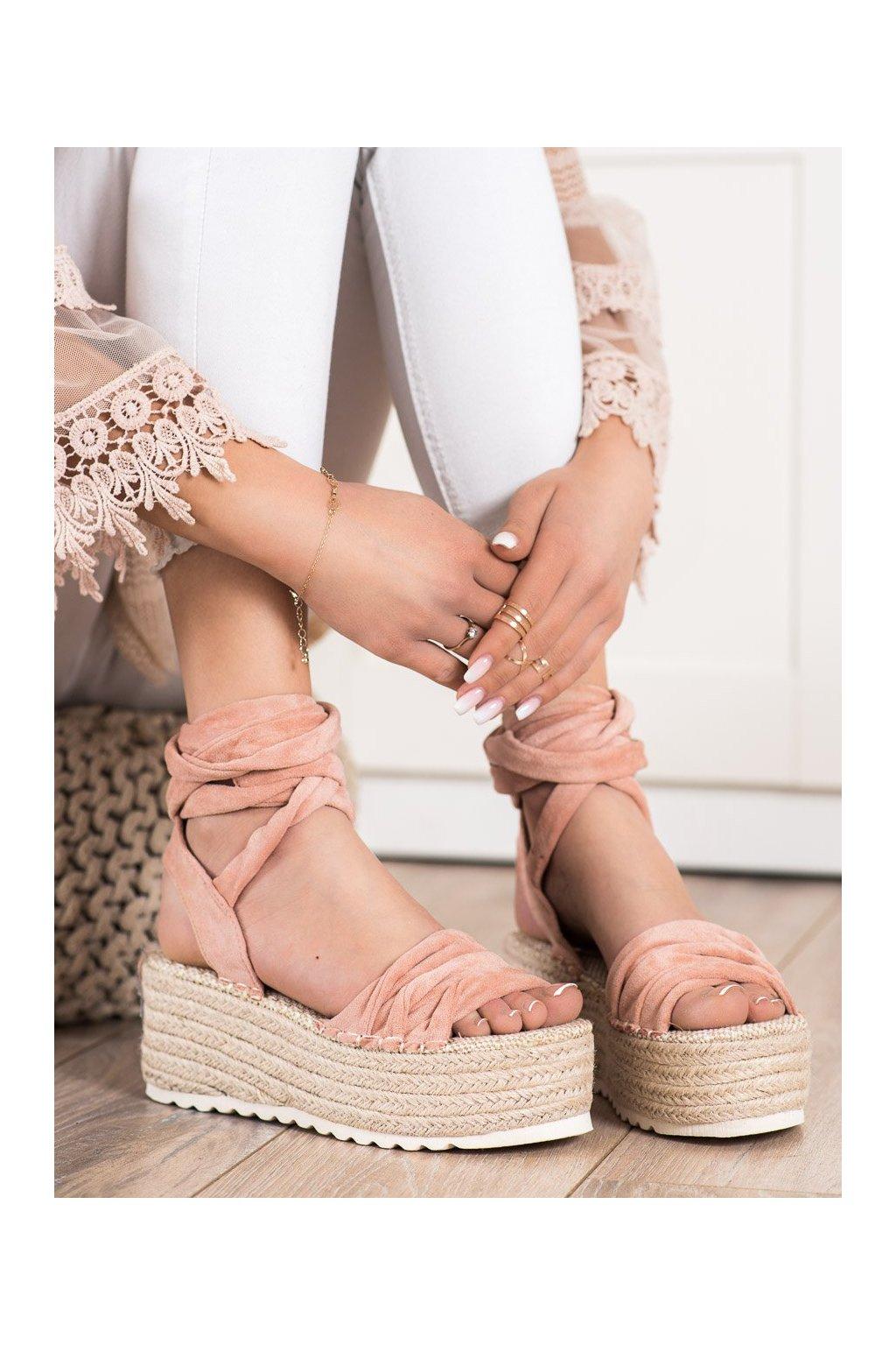 Ružové sandále na platforme Shelovet kod BL262P