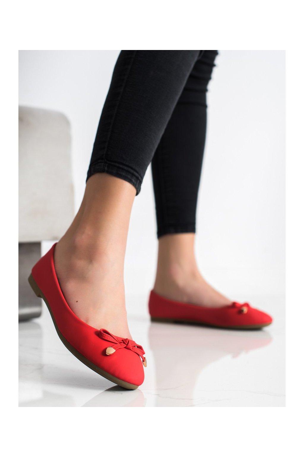 Červené dámske balerínky Diamantique kod YSD819R