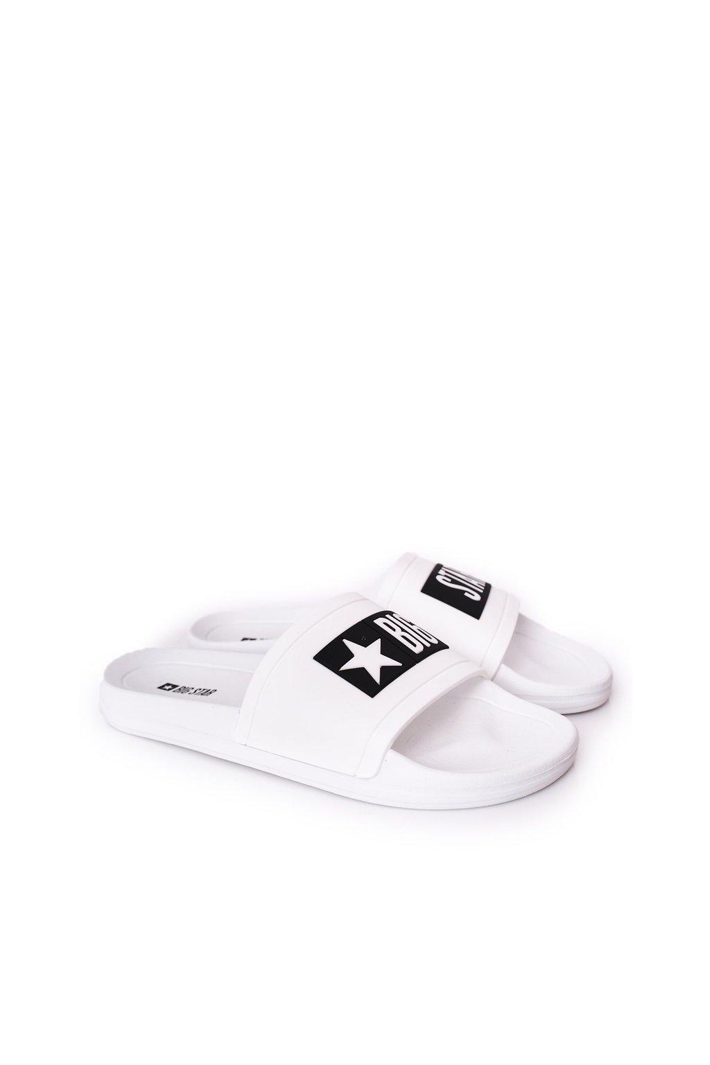Pánske šľapky farba biela kód obuvi DD174700 WHITE