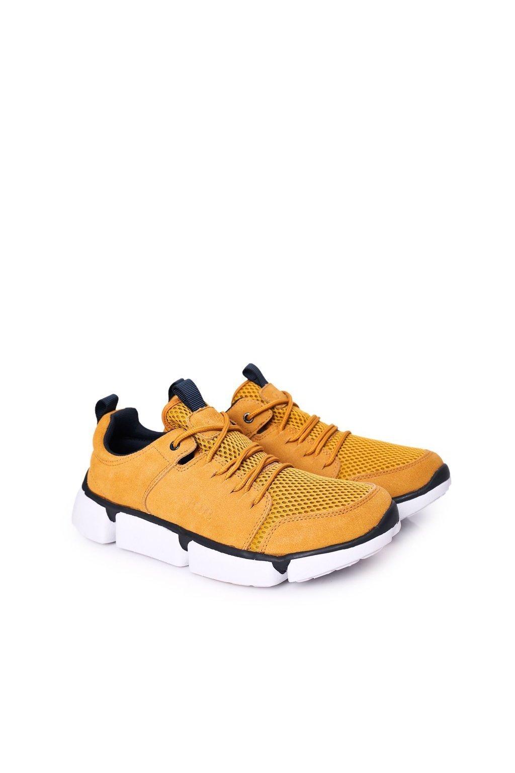 Žltá obuv kód topánok HH1N4029 YELLOW/NAVY