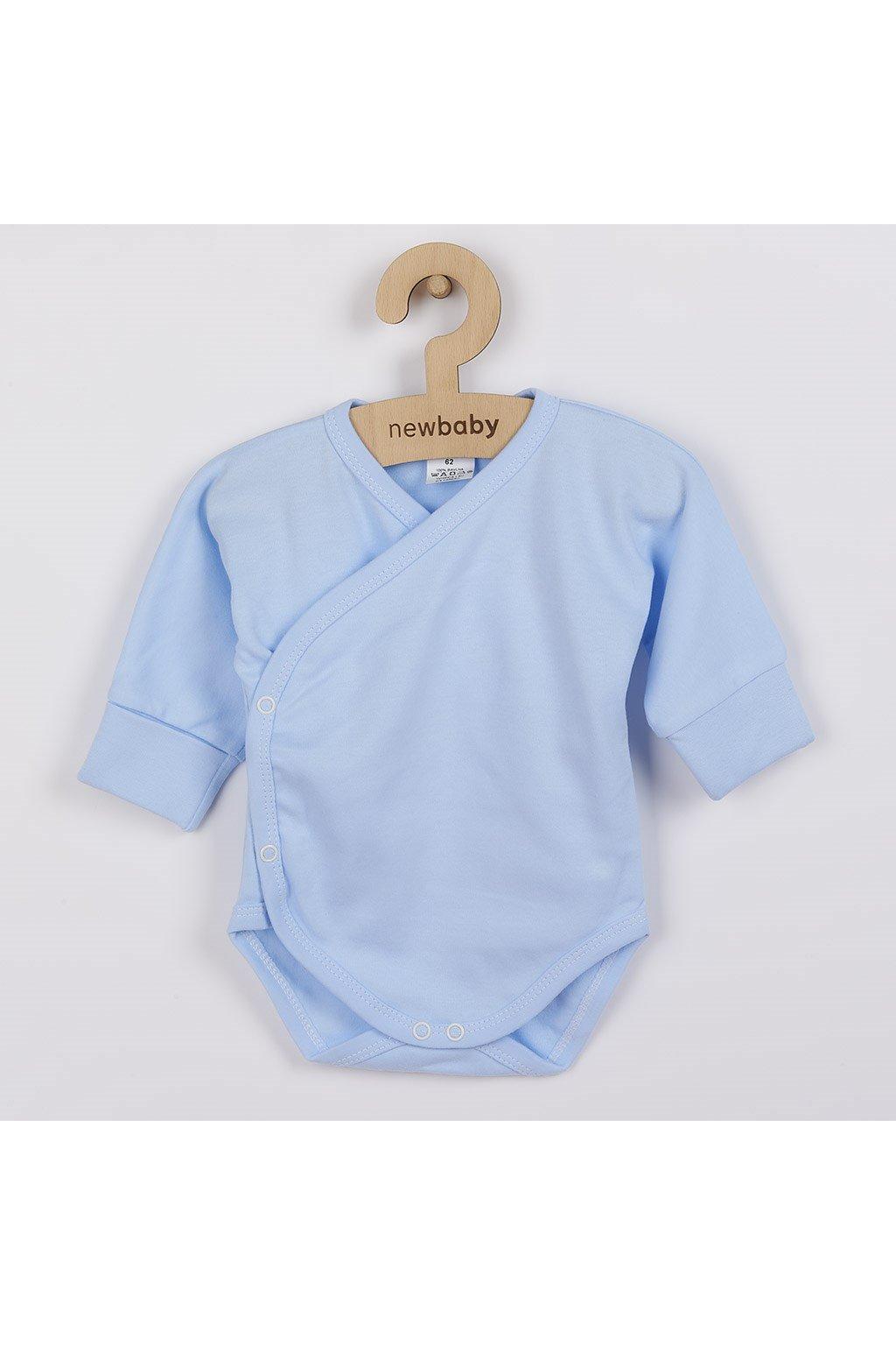 Dojčenské body s bočným zapínaním New Baby modré