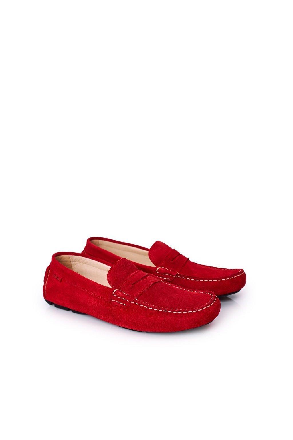 Pánske poltopánky farba červená kód obuvi HH1N4066 RED