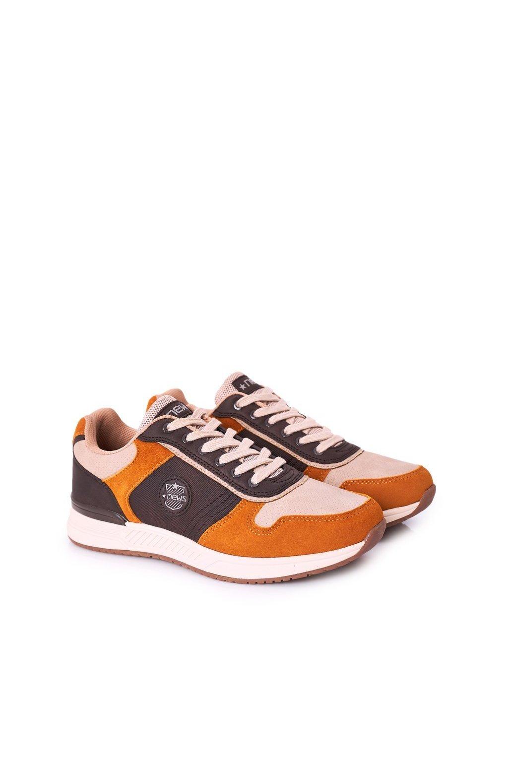 Žltá obuv kód topánok 20MN20-3310 YELLOW-BROWN