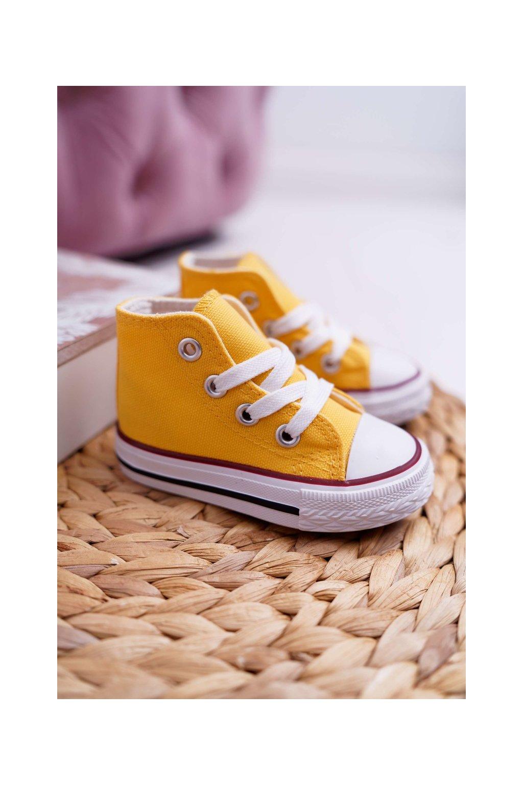 Detské tenisky farba žltá NJSK 80090-H YELLOW