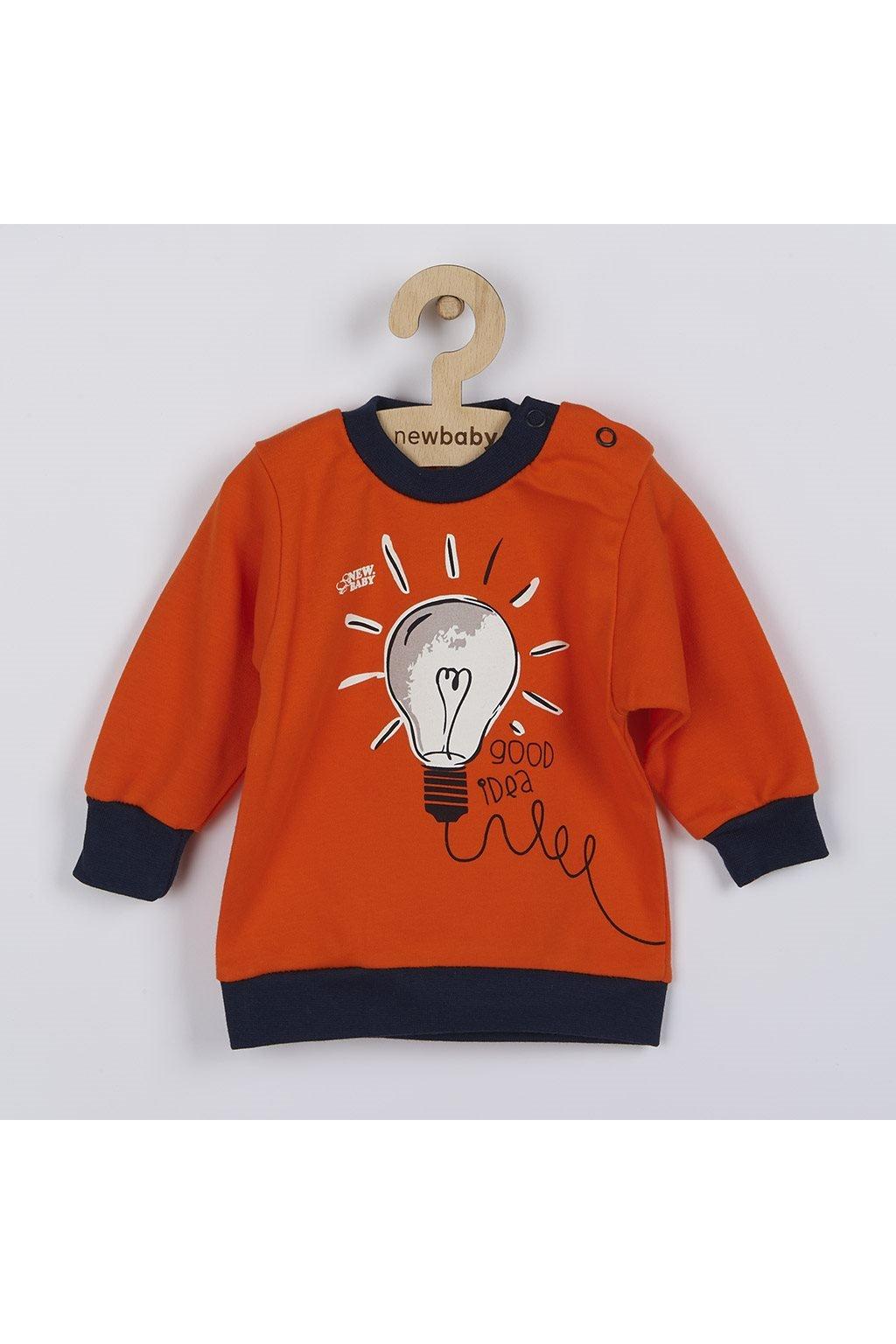 Dojčenské bavlnené tričko New Baby Happy Bulbs