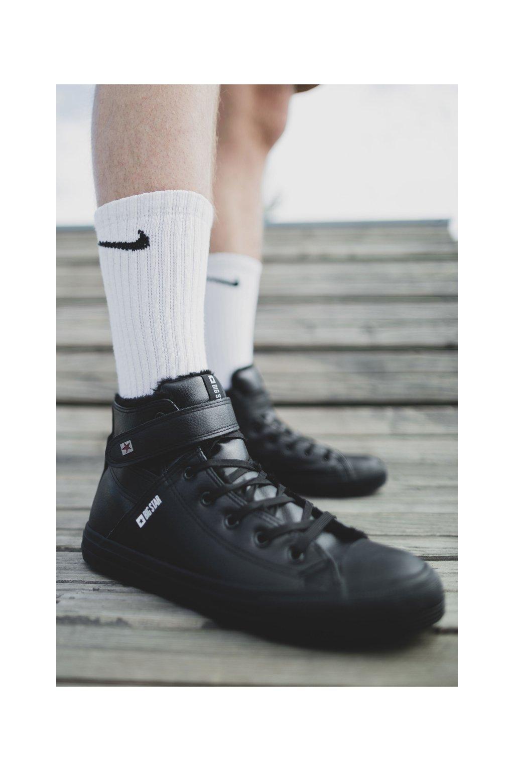 Čierna obuv NJSK Y174020FW BLK