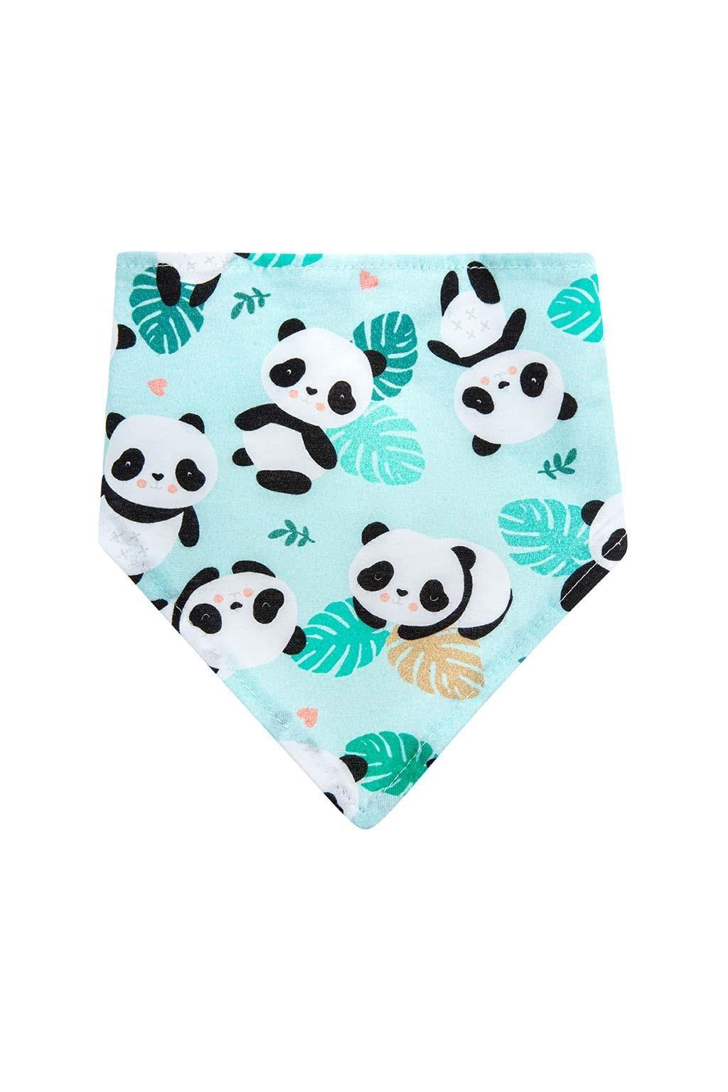 Dojčenská šatka na krk podbradník Akuku Pandy