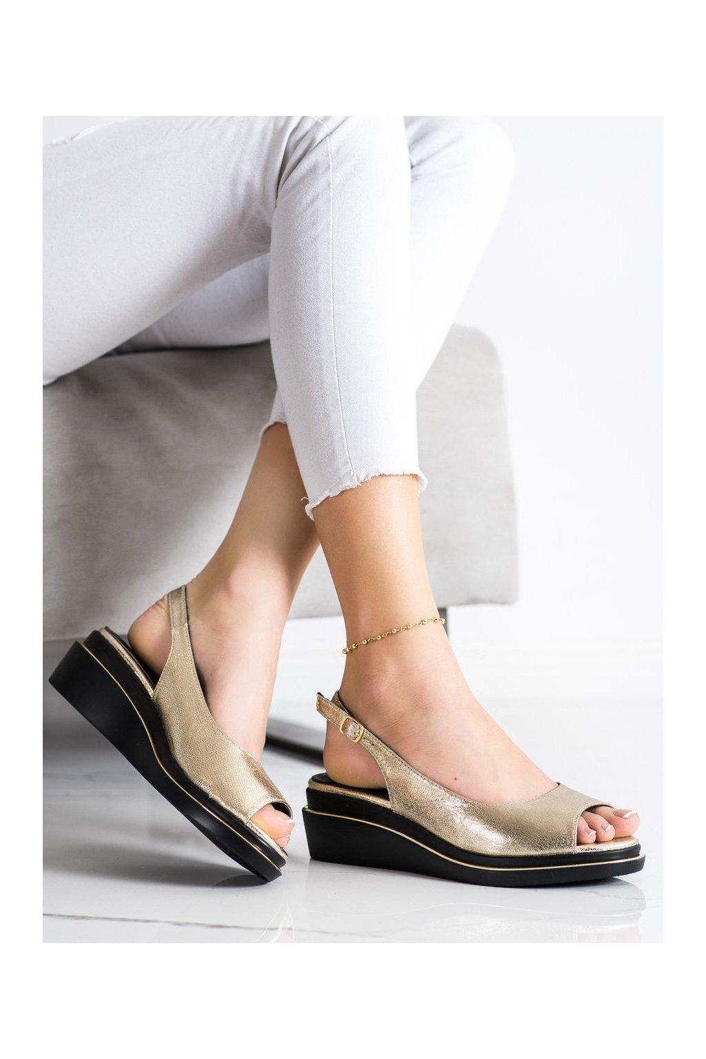 Zlaté sandále na platforme Goodin NJSK GD-XR-301GO