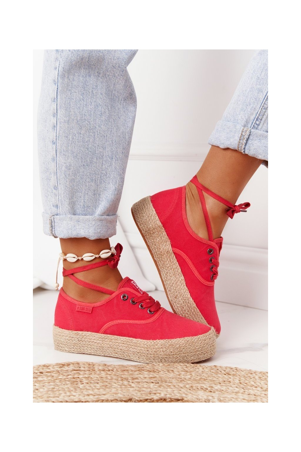 Dámske tenisky farba červená kód obuvi FF274141 RED