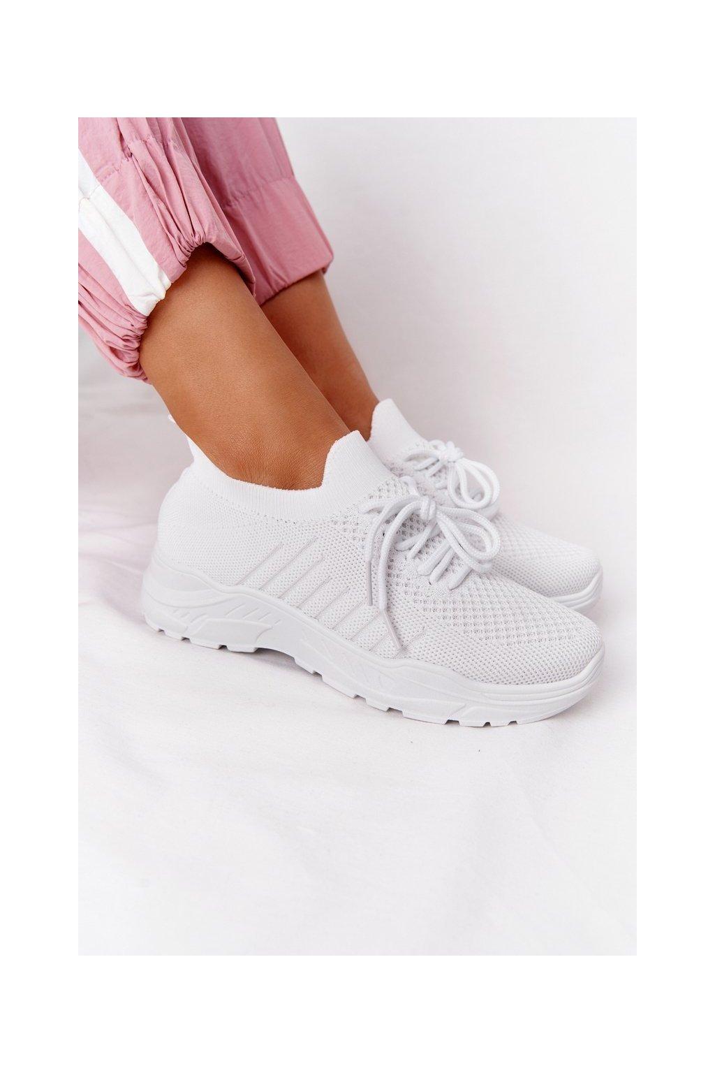 Dámske tenisky farba biela kód obuvi LA171 WHITE