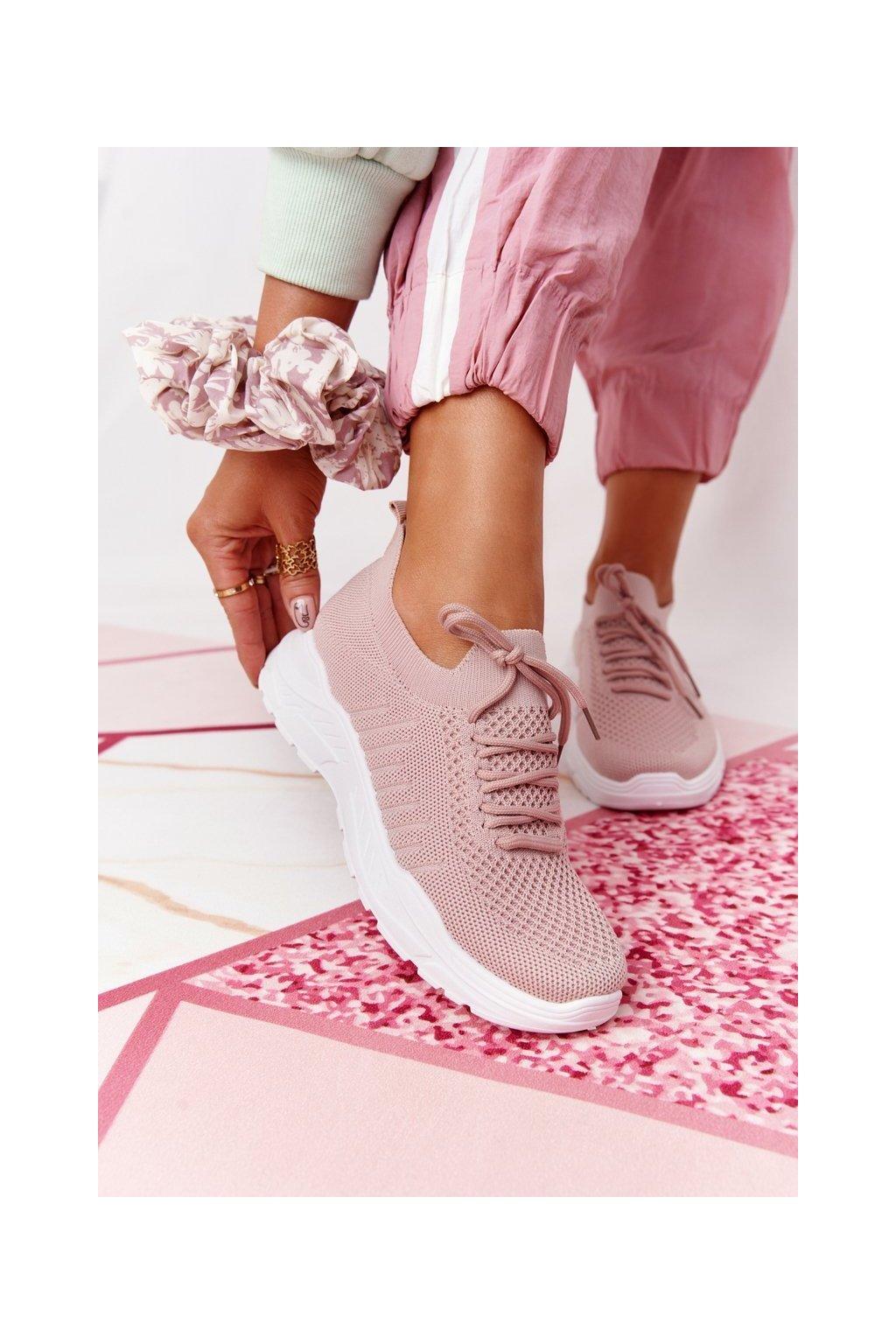 Dámske tenisky farba ružová kód obuvi LA171 PINK