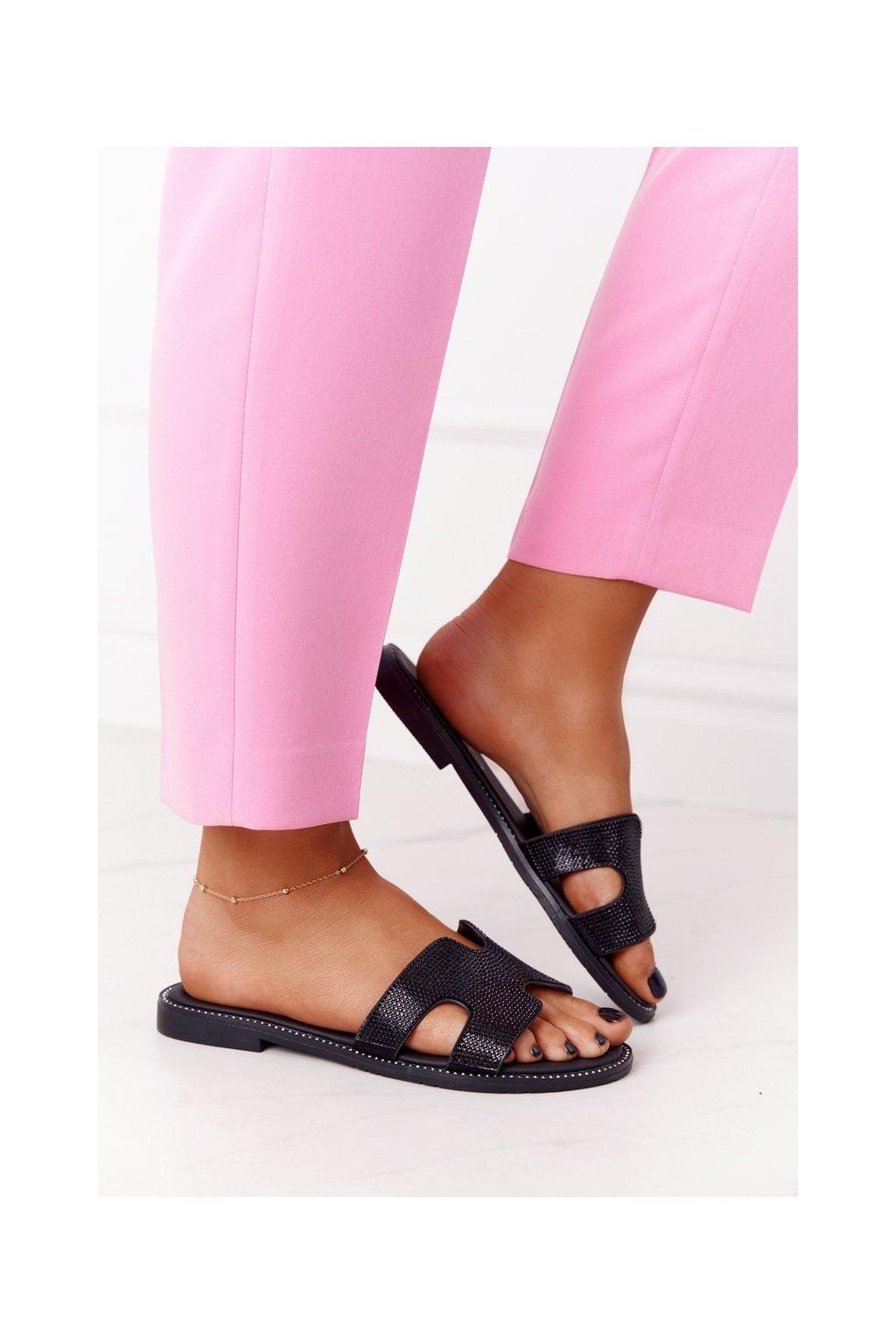Dámske šľapky farba čierna kód obuvi 21SD35-3583 BLACK