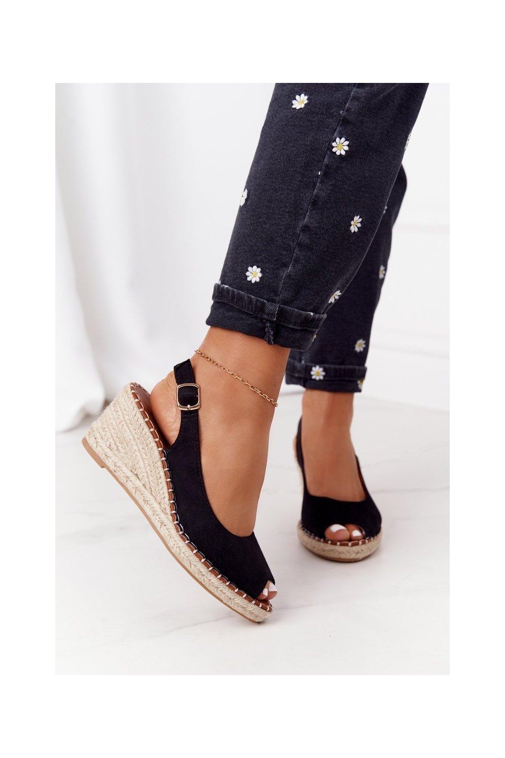 Dámske sandále farba čierna kód obuvi H135 NEGRO