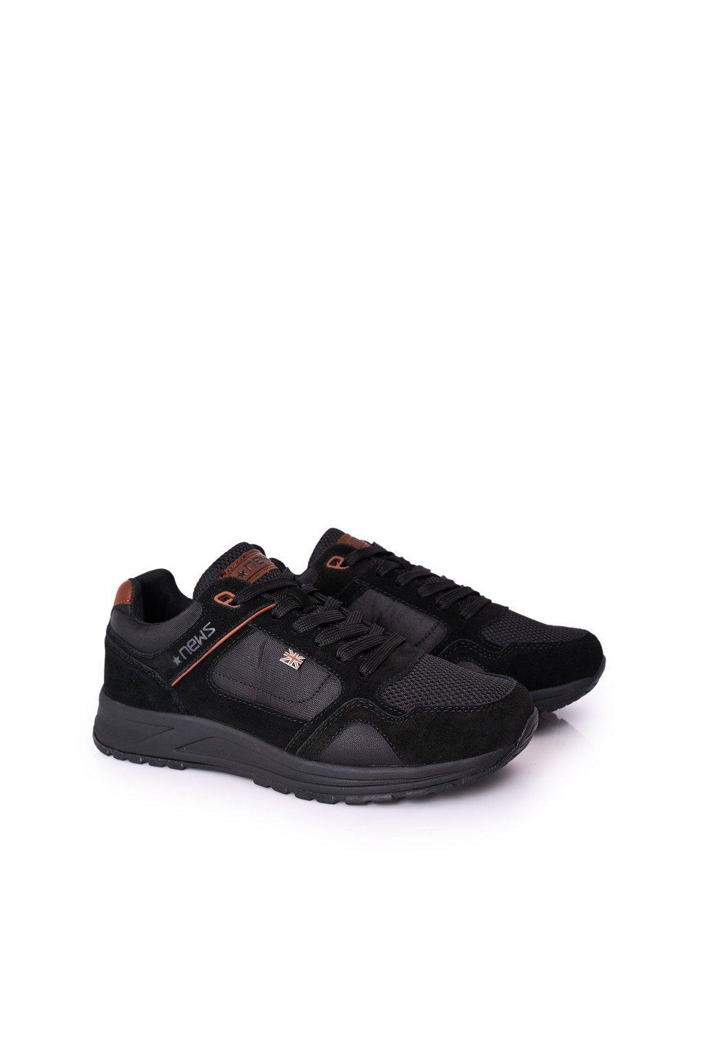 Čierna obuv kód topánok 20MN20-3311 BLACK