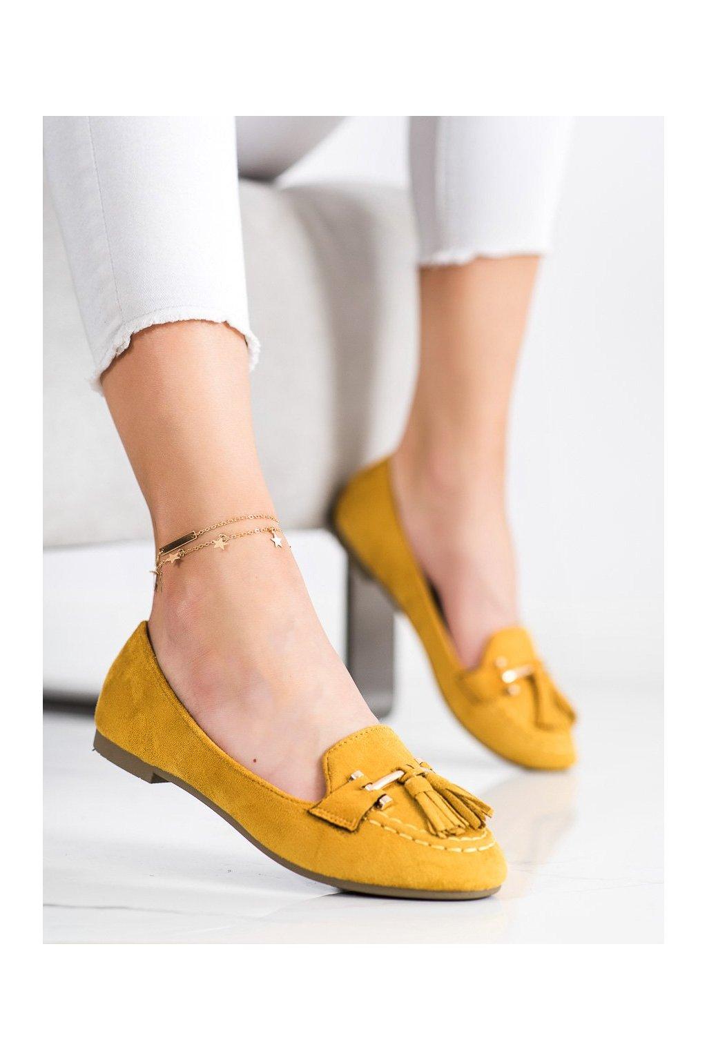Žlté mokasíny Kayla kod LL6393Y