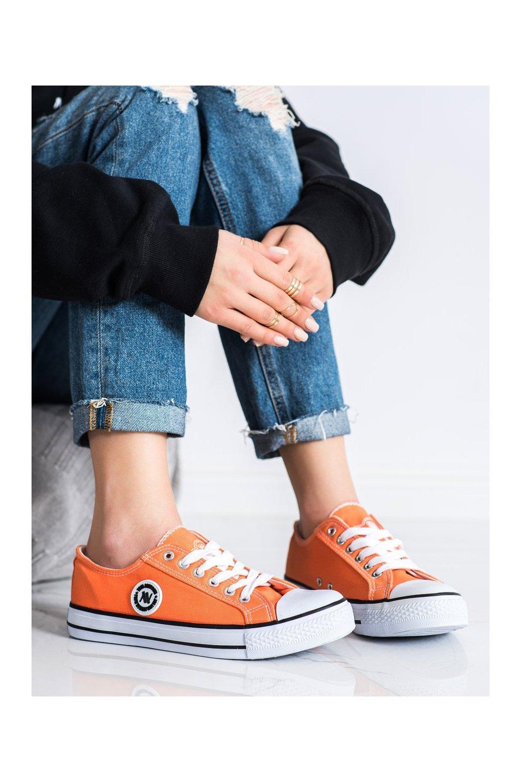 Oranžové tenisky New age kod 083OR