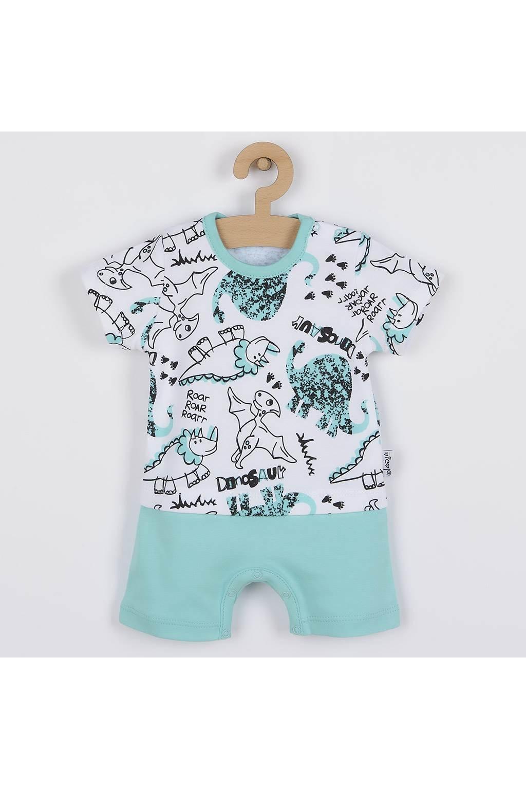 Dojčenský letný bavlnený overal Nicol Dinosaur