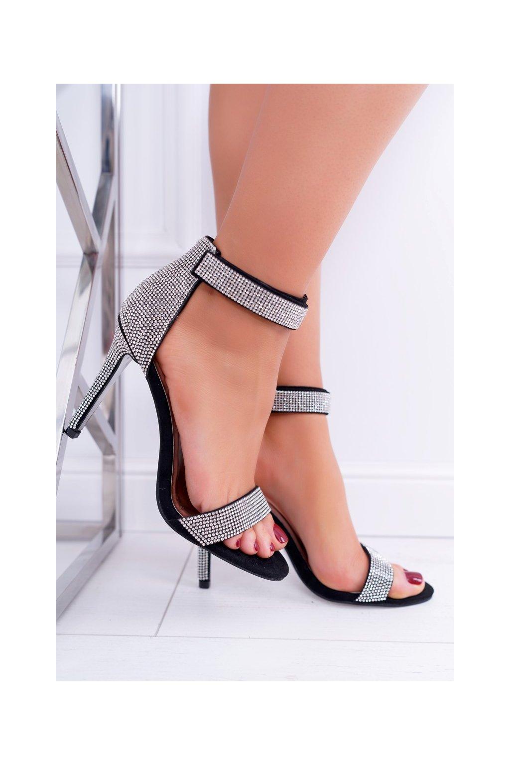 Dámske sandále farba čierna kód obuvi D-50 BLK