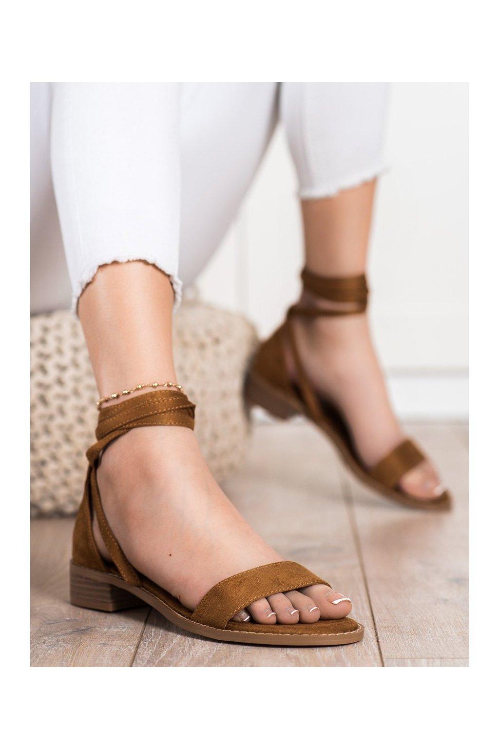 Hnedé sandále Goodin kod GD-OD-101C