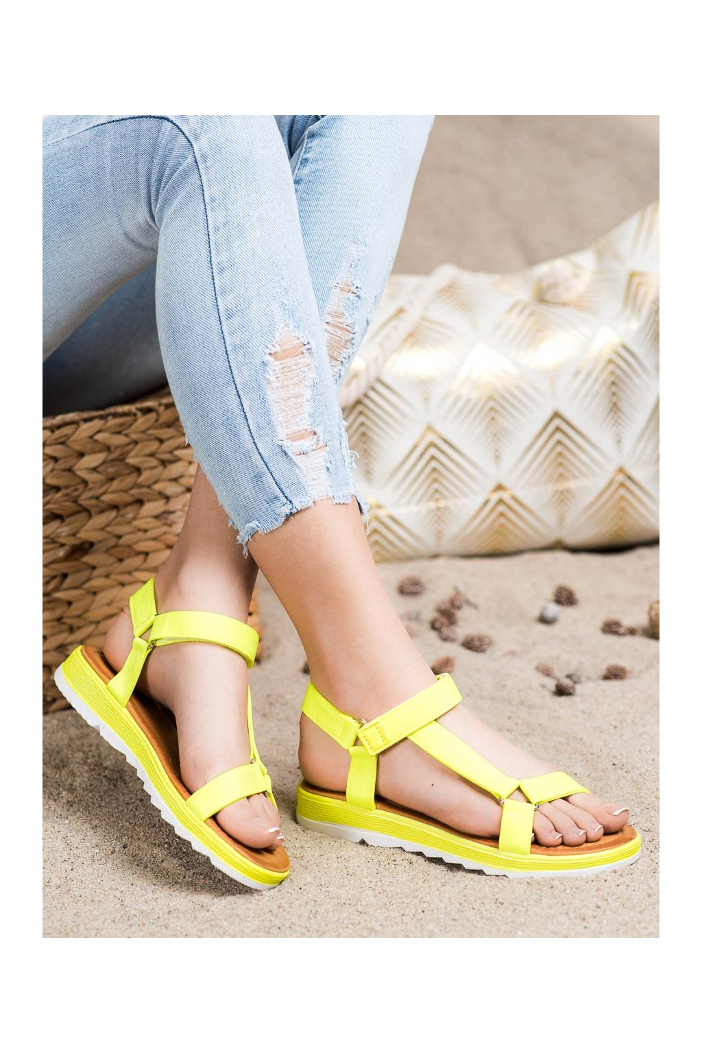 Žlté sandále Shelovet kod WS9027Y