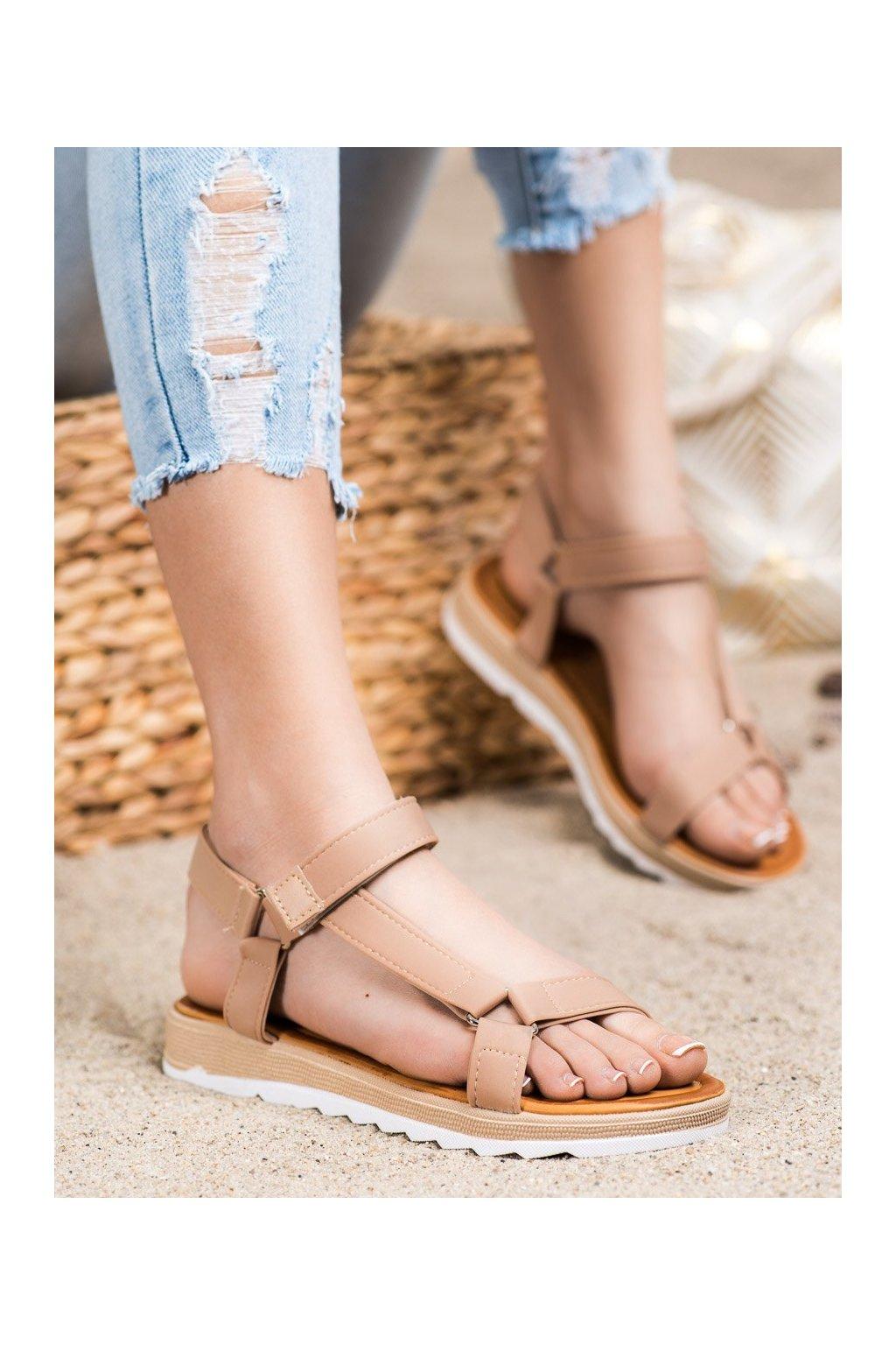 Hnedé sandále Shelovet kod WS9027KH