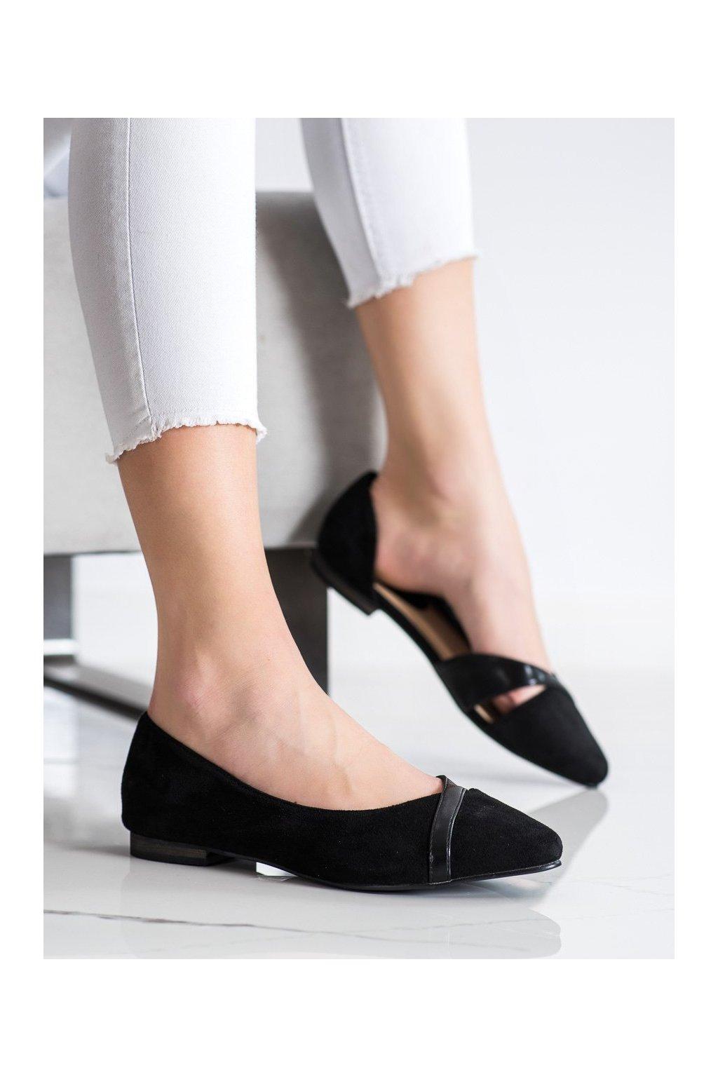 Čierne dámske balerínky Shelovet kod 21BL35-3528B