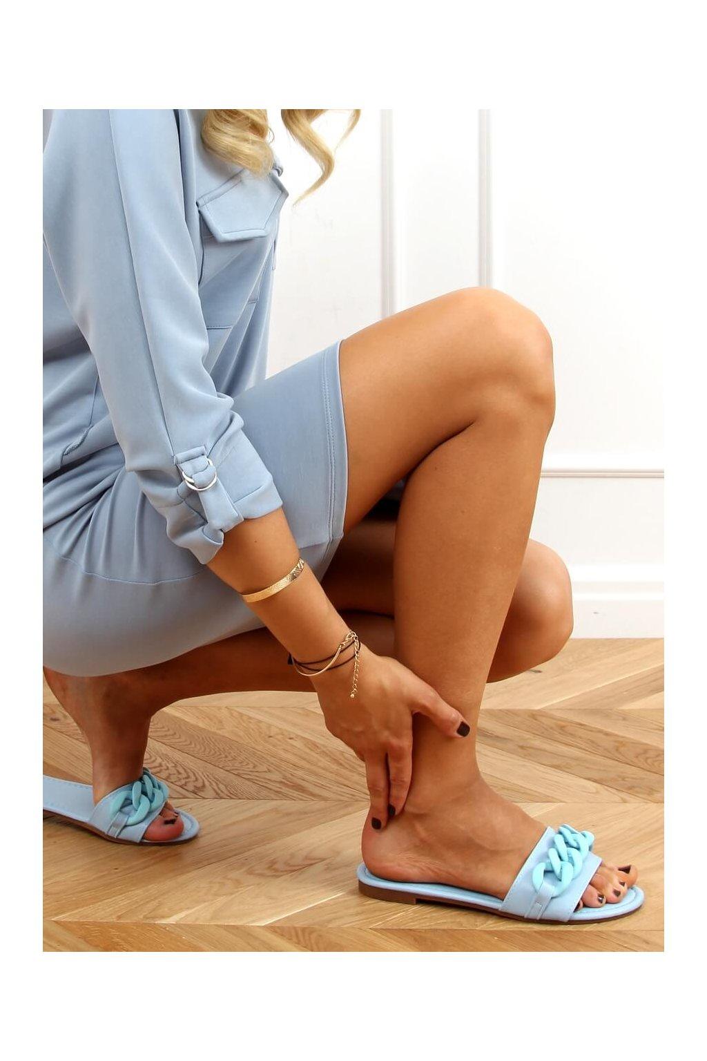 Damske šľapky modré 7857