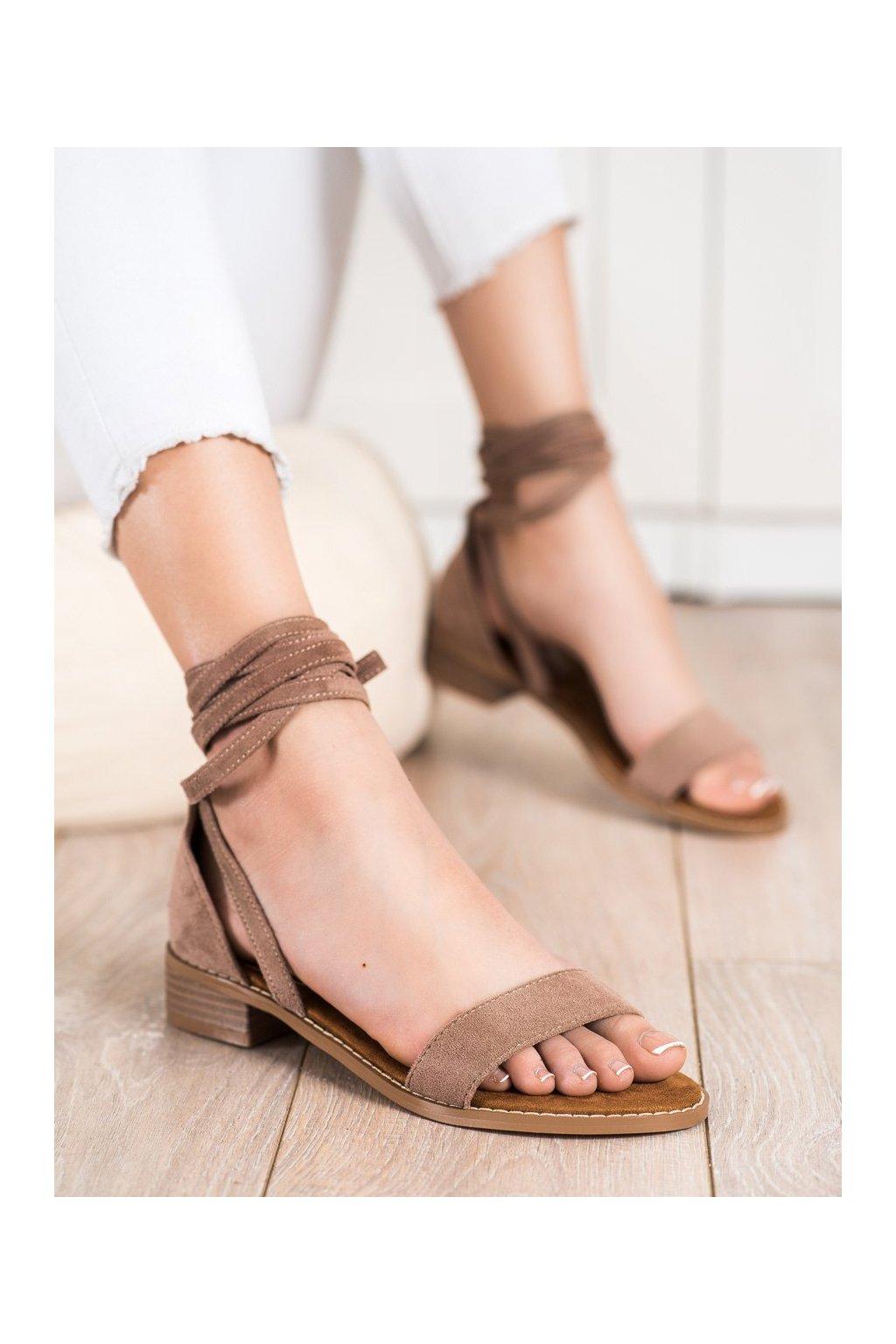 Hnedé sandále Goodin kod GD-OD-101KH