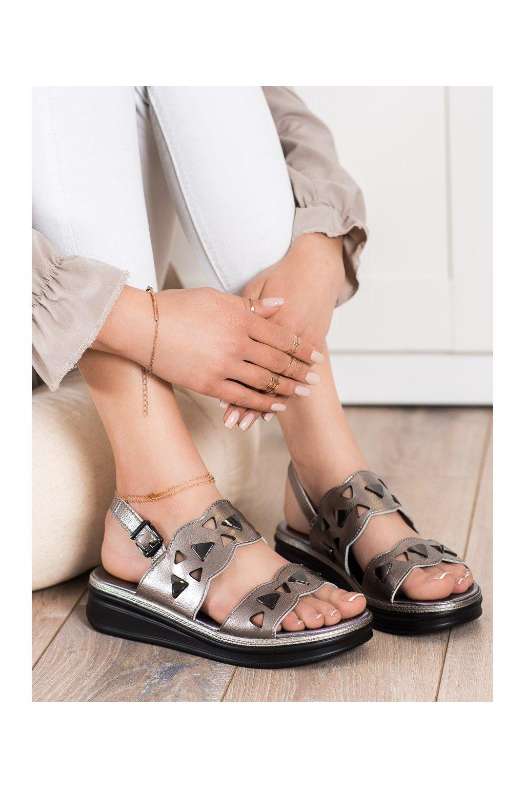 Sivé dámske sandále Sergio leone kod SK040S