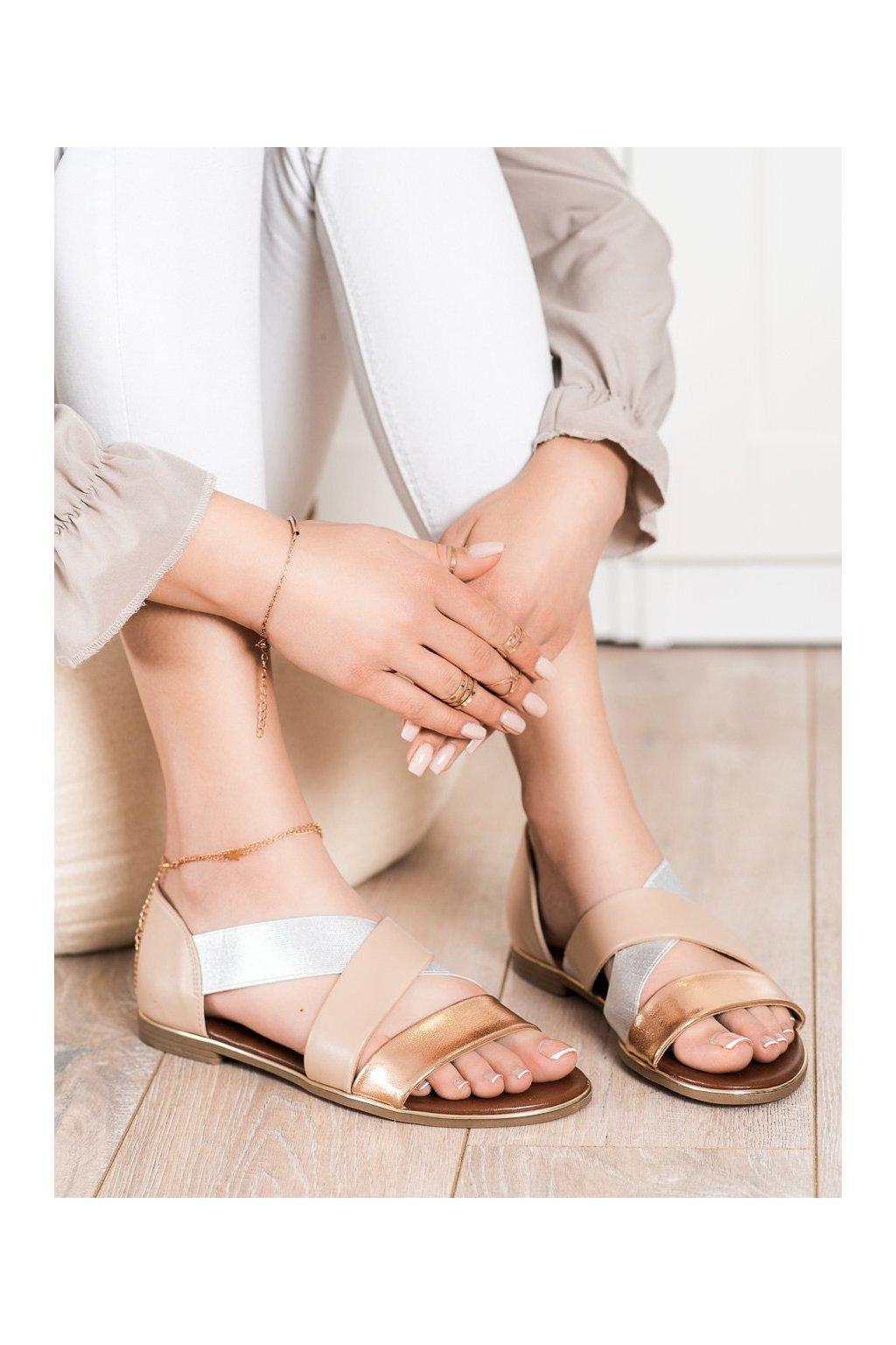 Hnedé sandále Evento kod 21SD35-3882BE