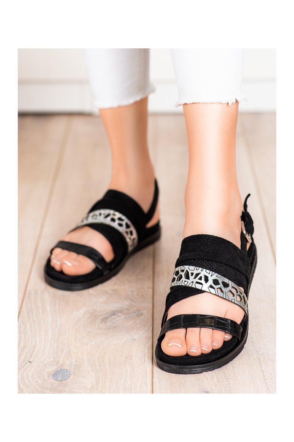 Čierne sandále Evento kod 21SD35-3570B