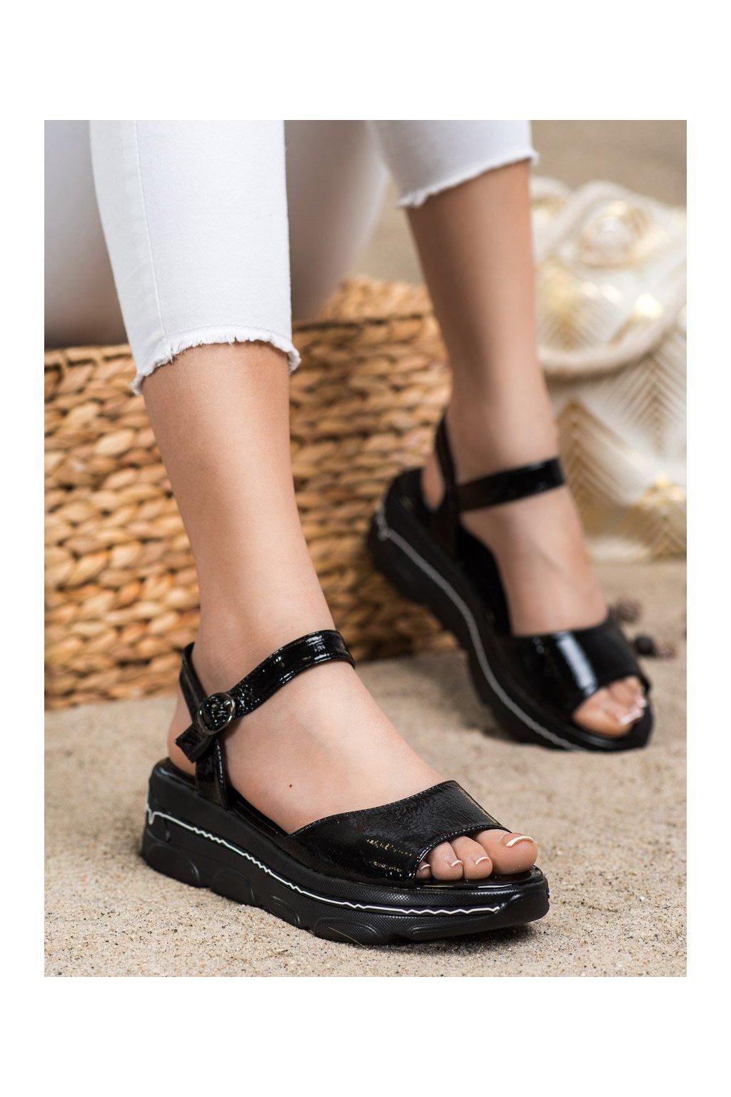 Čierne sandále Filippo kod DS2319/21B