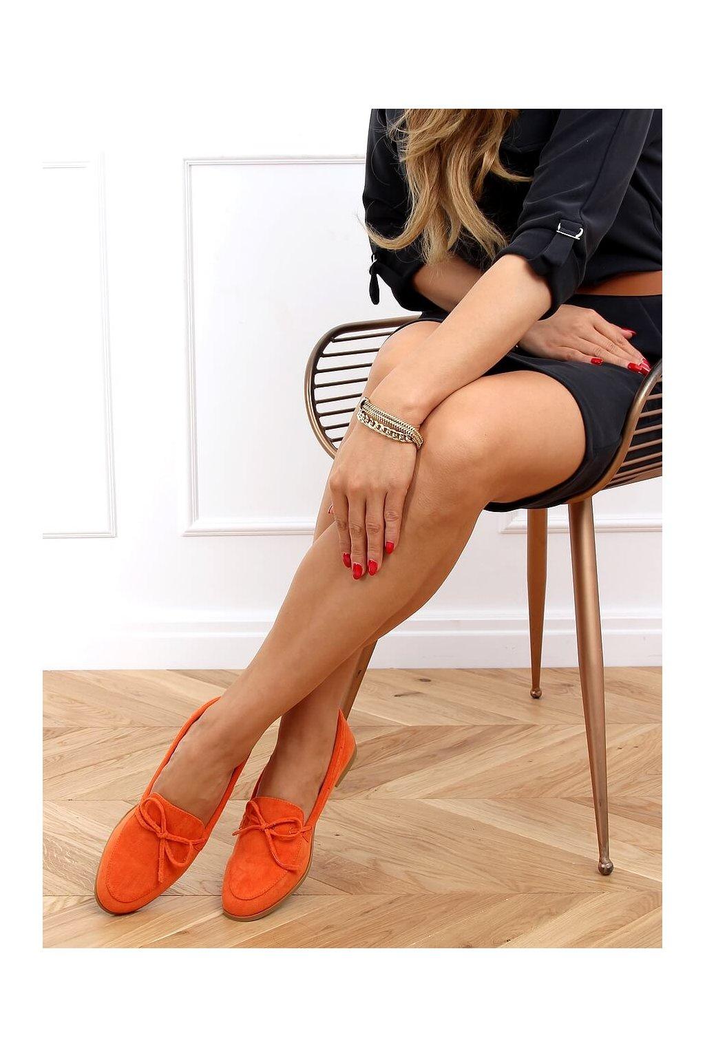Dámske mokasíny oranžové 3394