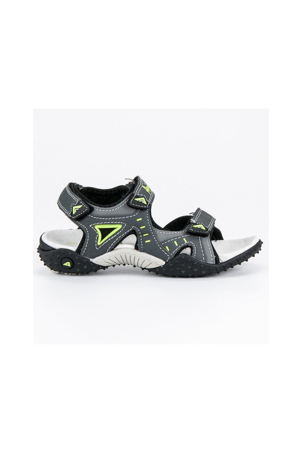 Sivé chlapčenské sandále NJSK BIF5267G