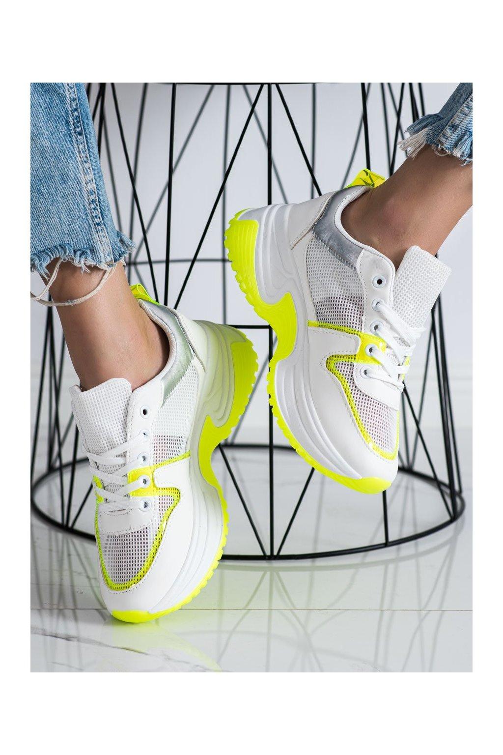 Biele tenisky Shelovet kod BOK03W/GR