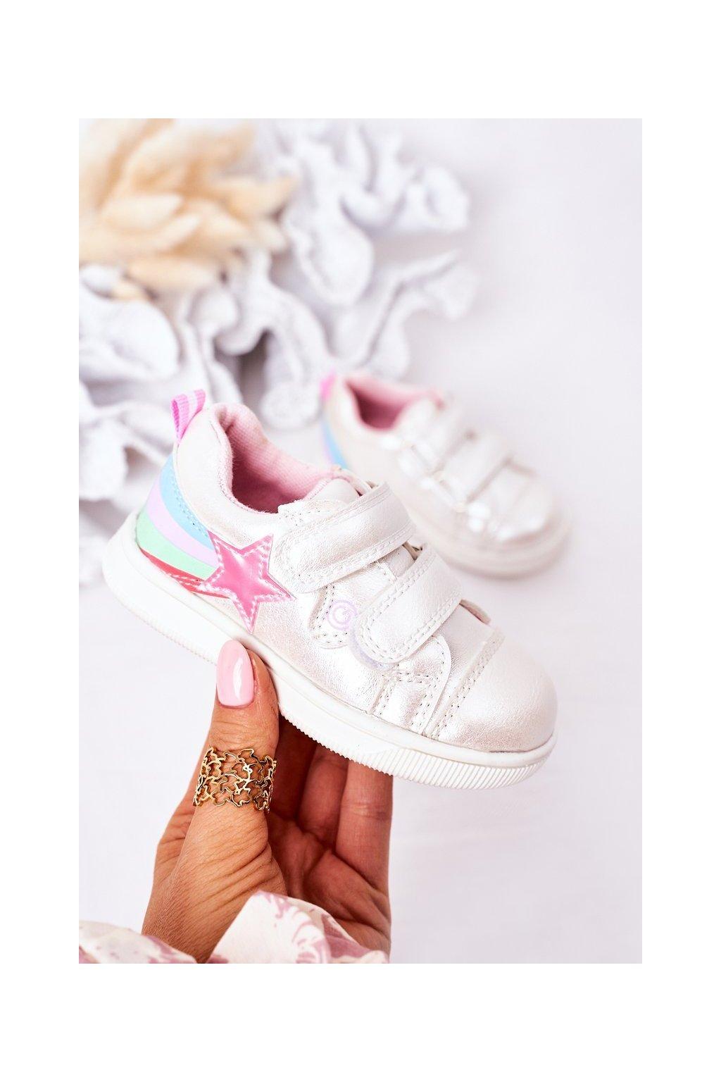 Detské tenisky farba biela kód obuvi 21DZ23-3904 WHITE