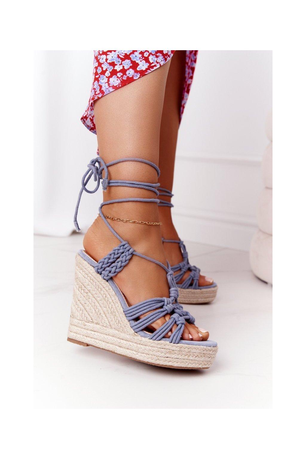 Dámske sandále farba hnedá kód obuvi M319 L.BLUE