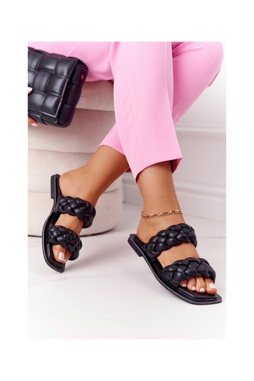 Dámske šľapky farba čierna kód obuvi JH200 BLACK