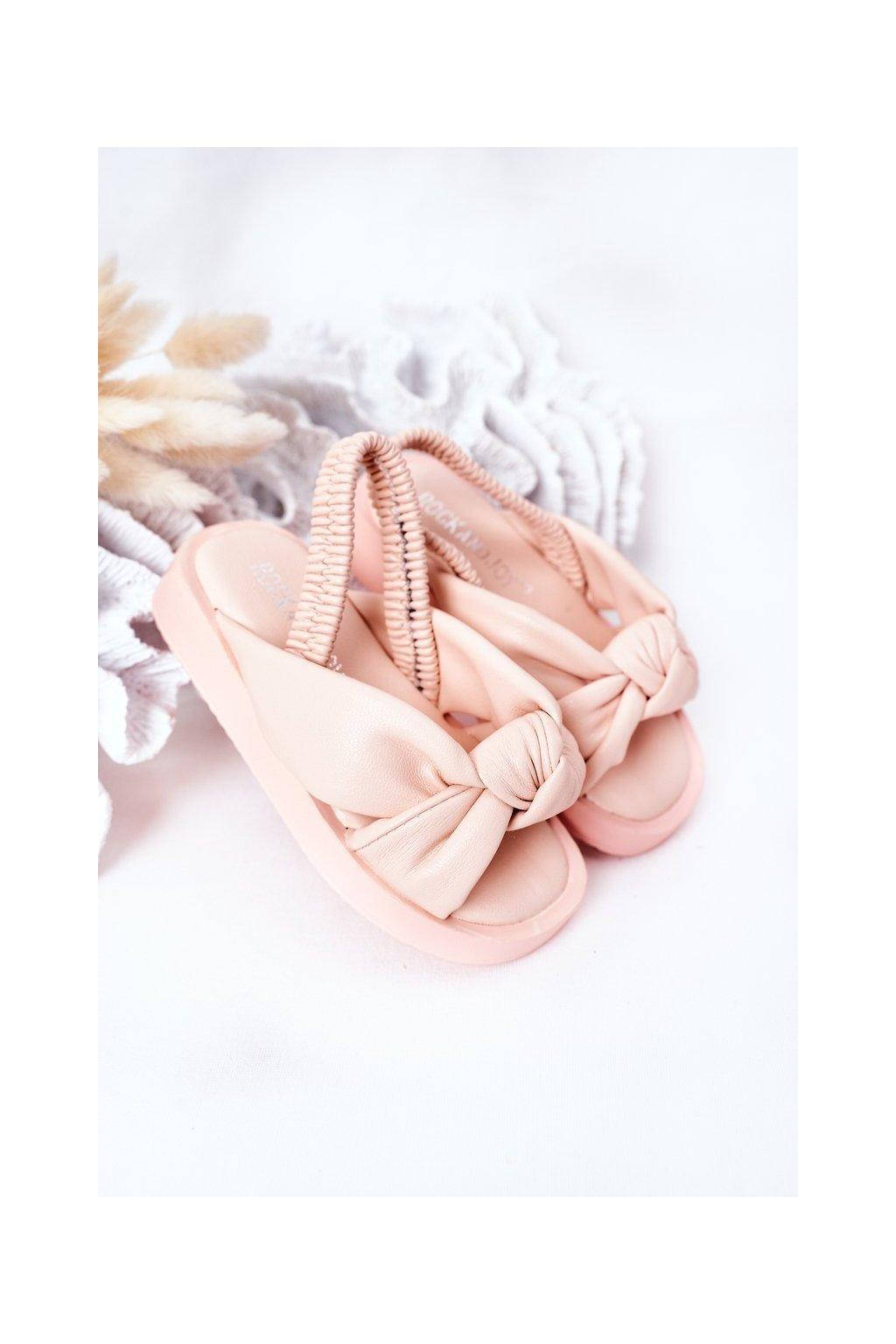 Detské sandále farba ružová kód obuvi 287-C PINK/ NOODLES