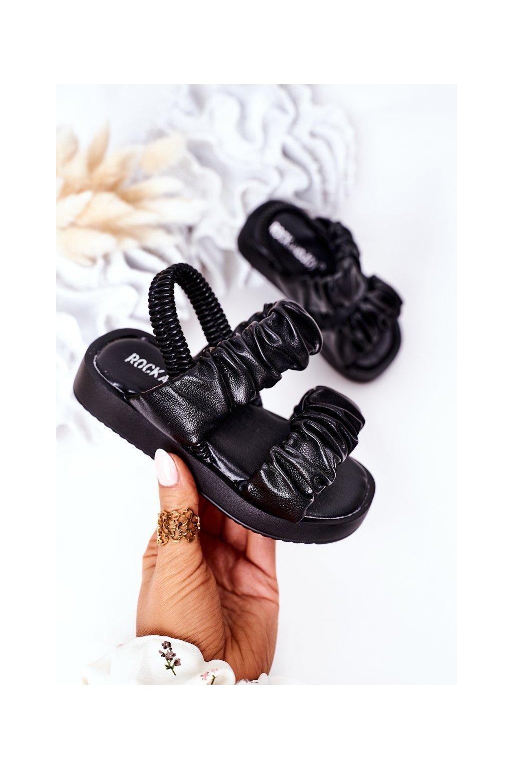 Detské sandále farba čierna kód obuvi 284-A BLACK