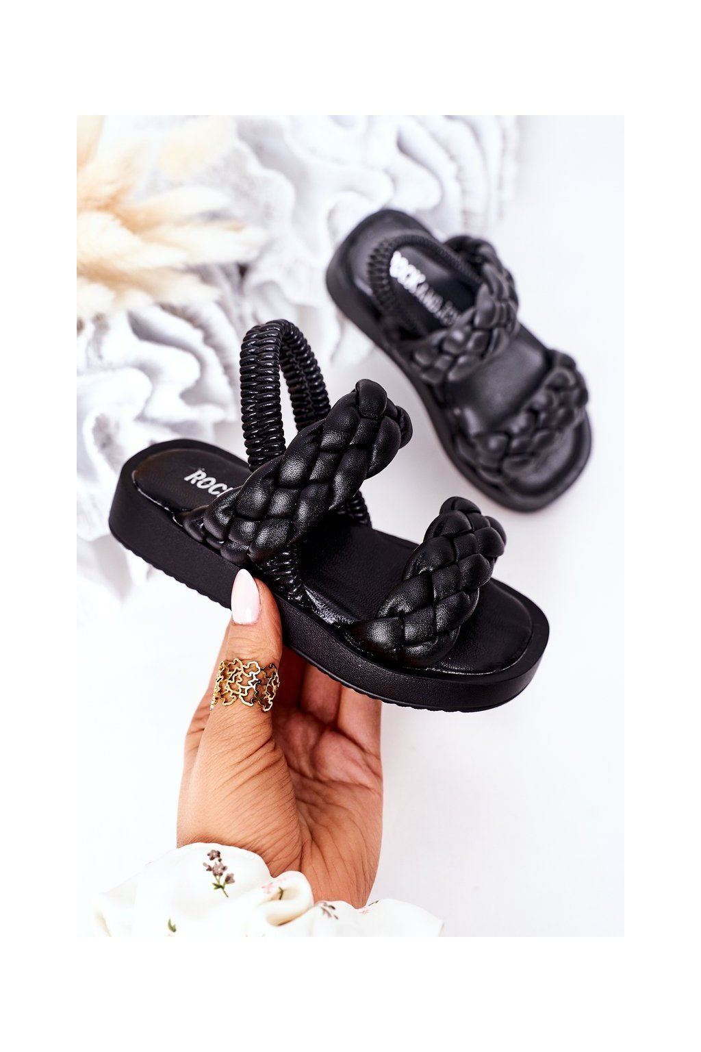 Detské sandále farba čierna kód obuvi 285-A 286-A BLACK