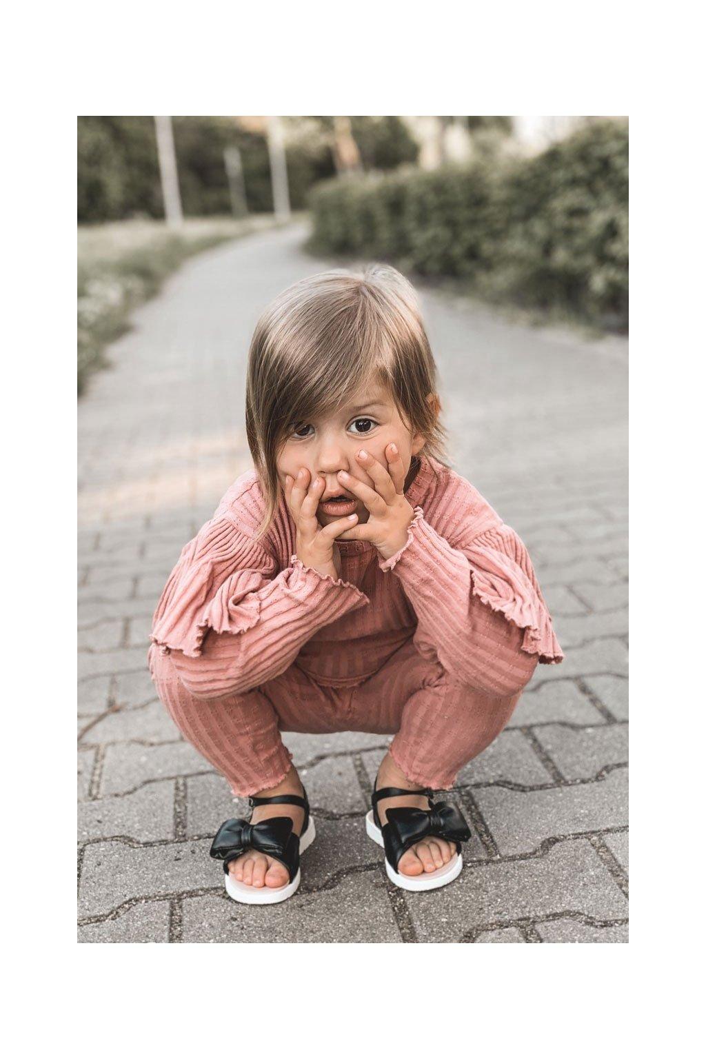 Detské sandále farba čierna kód obuvi 278-A BLACK