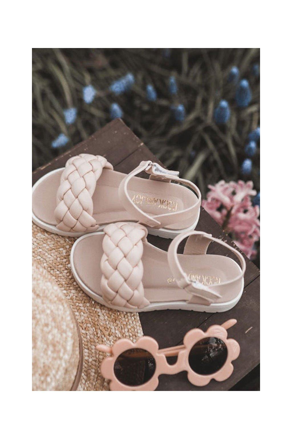 Detské sandále farba ružová kód obuvi 277-C RICE NOODLES / PINK