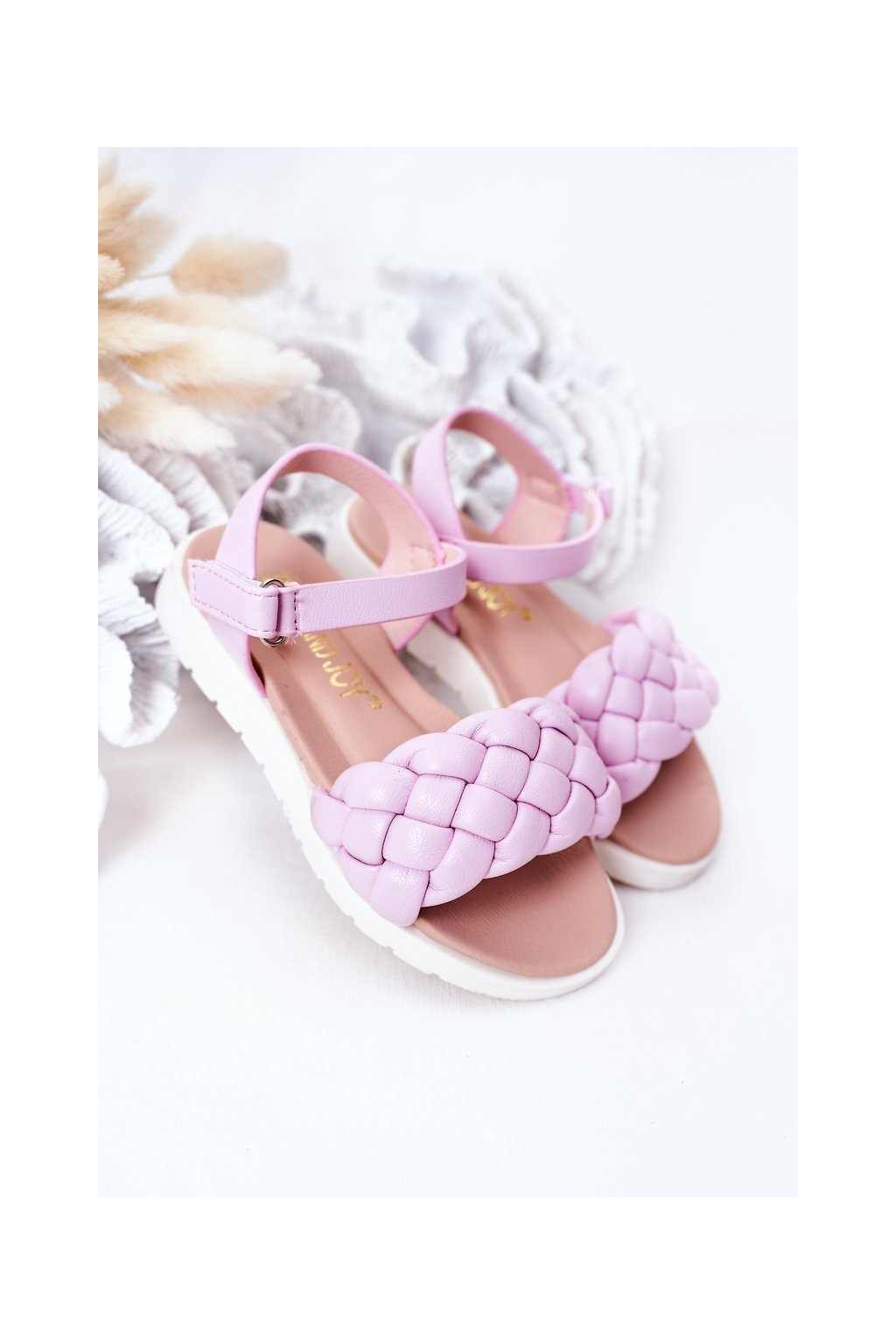 Detské sandále farba fialová kód obuvi 277-B PURPLE