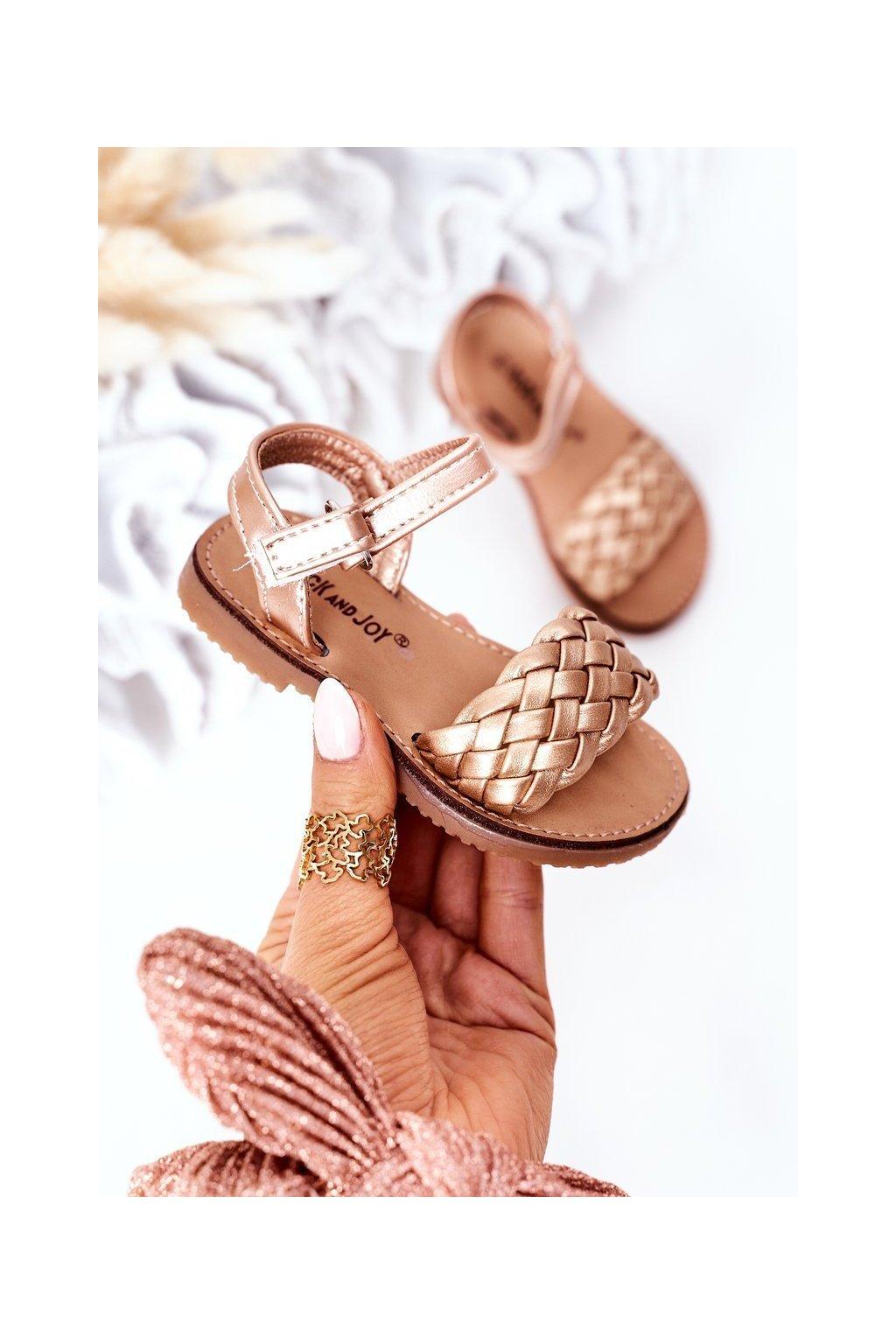 Detské sandále farba žltá kód obuvi 283-B GOLD