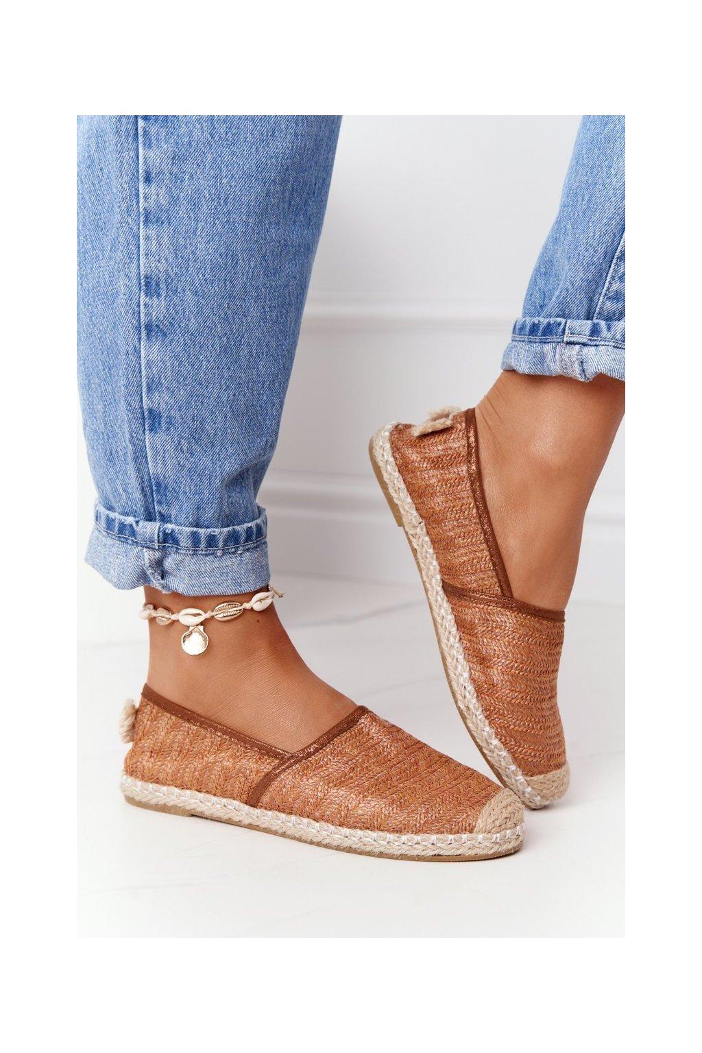 Dámske tenisky farba hnedá kód obuvi 2870-6 BROWN